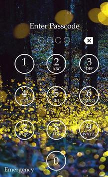 Fireflies Keypad Lock Screen screenshot 1