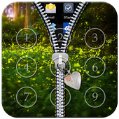 Fireflies Zipper Lock icon