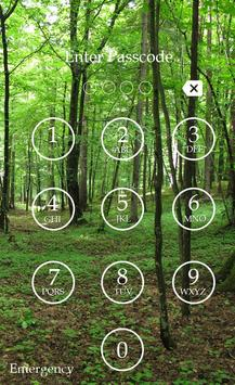 Forest Keypad Lock Screen screenshot 1