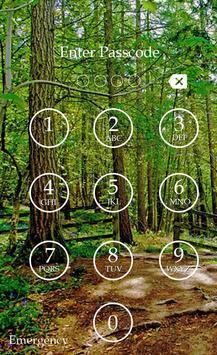 Forest Keypad Lock Screen screenshot 5