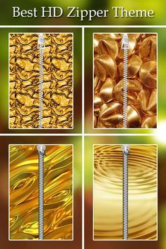 Gold Zipper Lock poster