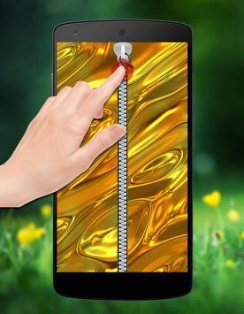 Gold Zipper Lock screenshot 1