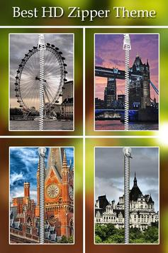 London Zipper Lock poster