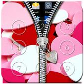 Love Passcode Zipper Lock icon