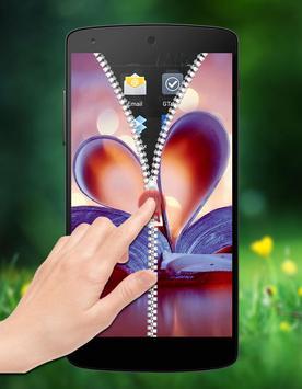 Love Passcode Zipper Lock apk screenshot