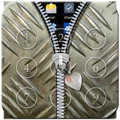 Metal Passcode Zipper Lock icon