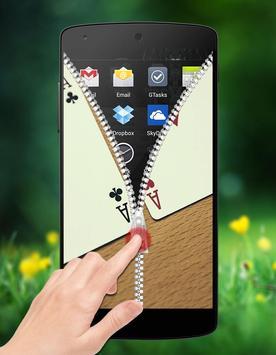 Poker Zipper Lock screenshot 3