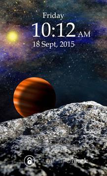 Planet Keypad Lock Screen poster