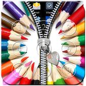 Rainbow Passcode Zipper Lock icon
