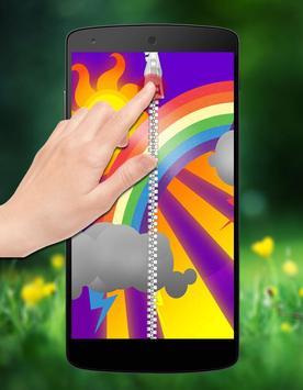 Rainbow Passcode Zipper Lock apk screenshot