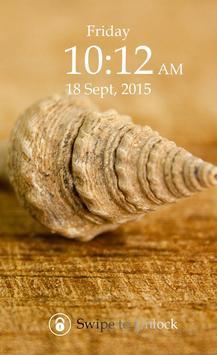 Sea Shell Keypad Lock Screen poster