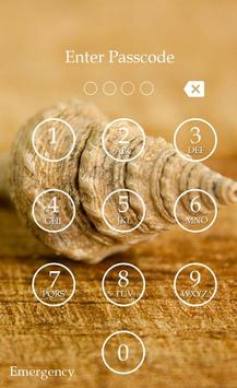 Sea Shell Keypad Lock Screen screenshot 1