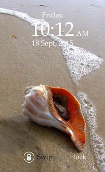 Sea Shell Keypad Lock Screen screenshot 2