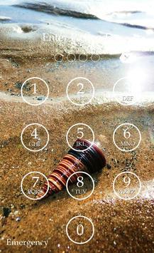 Sea Shell Keypad Lock Screen apk screenshot