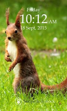 Squirrel Keypad Lock Screen poster