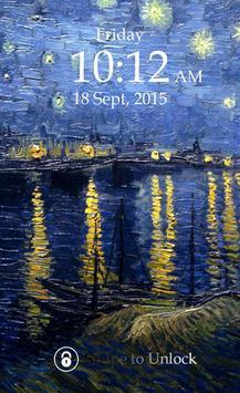 Starry Night Passcode Lock poster
