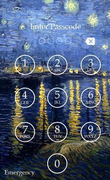 Starry Night Passcode Lock apk screenshot