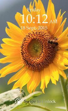 Sunflower Keypad Screen Lock poster