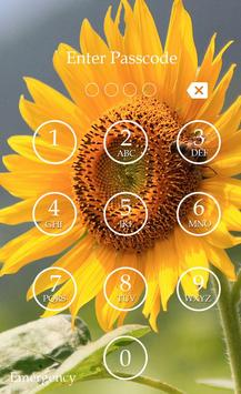 Sunflower Keypad Screen Lock screenshot 1