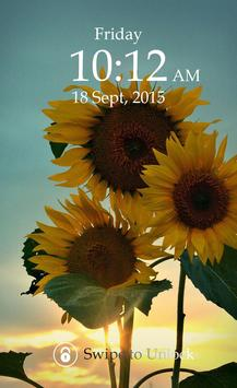 Sunflower Keypad Screen Lock screenshot 2