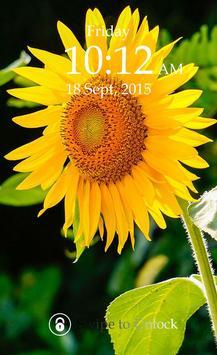 Sunflower Keypad Screen Lock screenshot 4