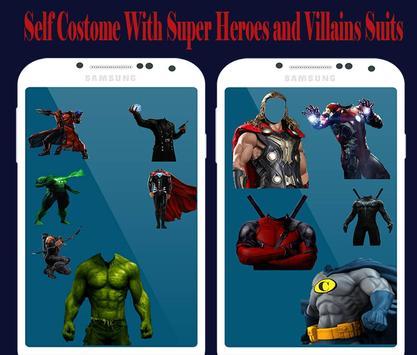 Super Hero & Villains photo Suit👔-marvlous Suits screenshot 5