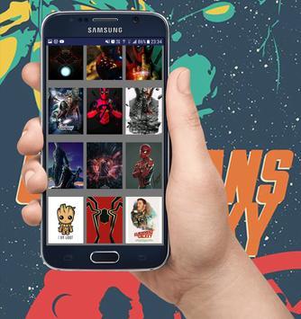 Marvel Heroes Wallpapers - Heróis da Marvel HD screenshot 14