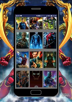 Marvel Heroes Wallpapers - Heróis da Marvel HD screenshot 1