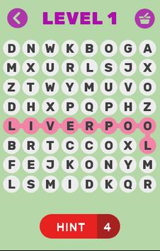 Word search for Football Clubs apk screenshot