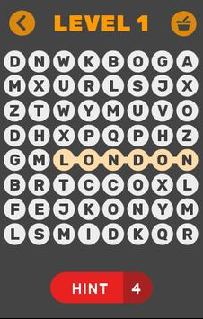 Word Search ~ UK Cities poster