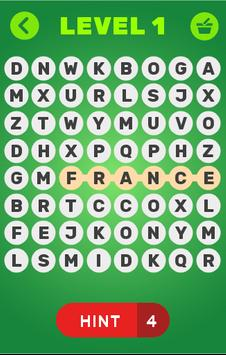 Word Search for Countries of the World poster