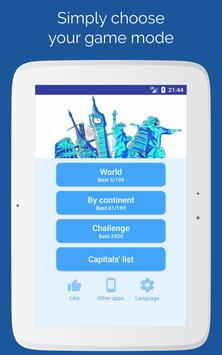 7 Schermata Capitals of the countries - Quiz