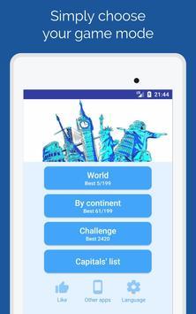 11 Schermata Capitals of the countries - Quiz