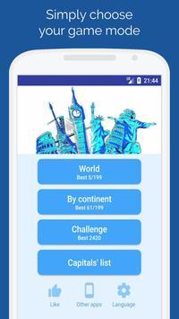 Capitals of the countries - Quiz screenshot 3