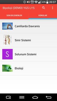 Biyoloji YGS LYS (Demo) apk screenshot