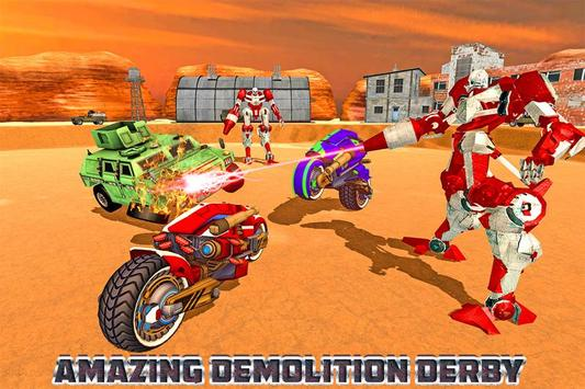 Demolition Derby Future Robot Bike Wars poster