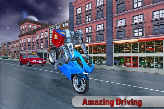 Moto Robot Pizza Delivery 3D apk screenshot