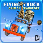 Flying Truck Animal Cargo icon