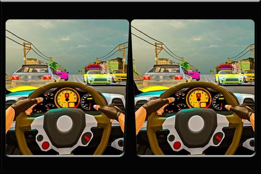 Turbo Traffic Car Racing: VR poster