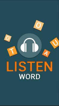 listen word poster