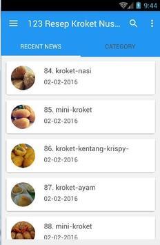 123 Resep Kroket Nusantara apk screenshot