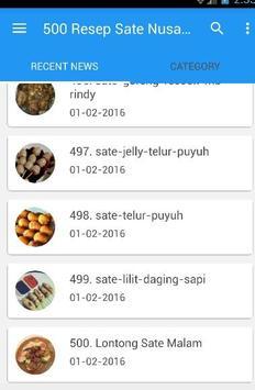500 Resep Sate Nusantara Enak screenshot 4