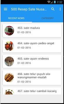 500 Resep Sate Nusantara Enak screenshot 5