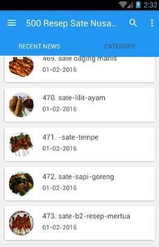 500 Resep Sate Nusantara Enak poster
