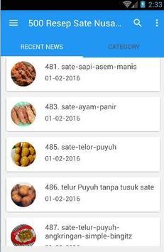 500 Resep Sate Nusantara Enak screenshot 2