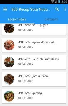 500 Resep Sate Nusantara Enak screenshot 3