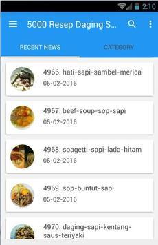 5000 Resep Masakan Sapi Mudah poster