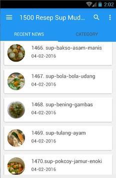 1500 Resep Sup Nusantara Enak screenshot 1