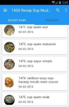 1500 Resep Sup Nusantara Enak screenshot 2