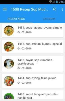 1500 Resep Sup Nusantara Enak screenshot 3